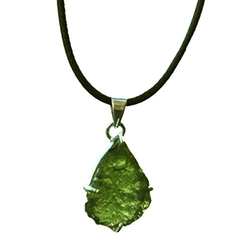 (SHIVANSH CREATIONS Genuine Moldavite Tektite Meteorites Crystals Healing Stones Suitable for Ring Pendant Reiki Crystal Jewelry Necklace Bracelet Earring from Czech Republic (Pendant))