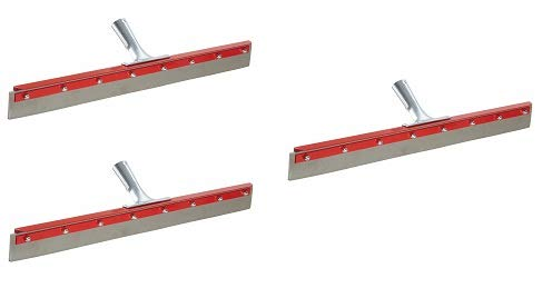 Haviland 1424 EPDM Rubber Non-Marking Heavy Duty Floor Squeegee, 24'' Length, Gray (3-(Pack))