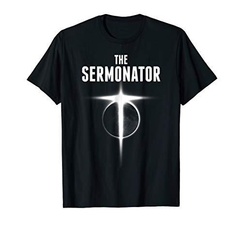 Mens The Sermonator Pastor Shirts for Men Pastor Gifts for Men Large Black