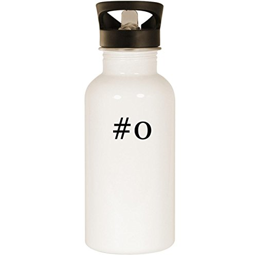 #o - Stainless Steel Hashtag 20oz Road Ready Water Bottle, White