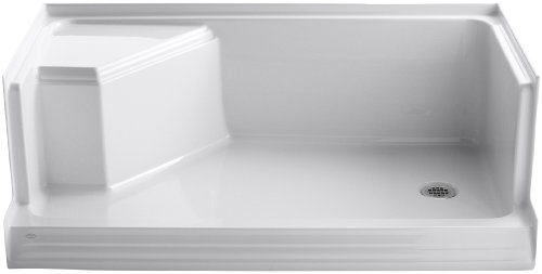 KOHLER K-9496-0 Memoirs Shower Base White