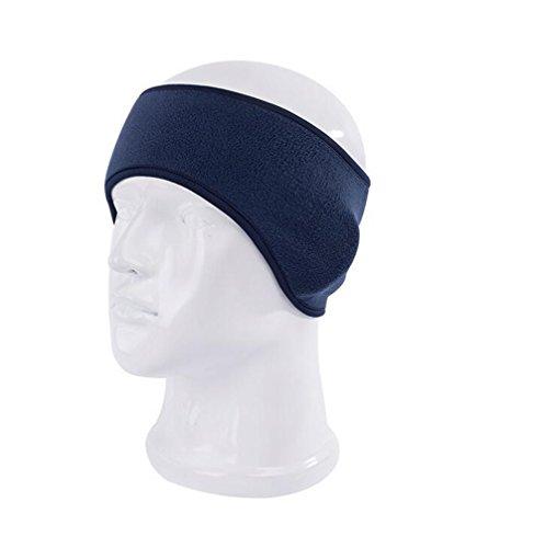 Fleece Headband (Winter Fleece Ear Warmer Headband Unisex Stretch Sports Outdoor Running Ski Headwear Ear Muffs Hair Band Headwrap (blue))