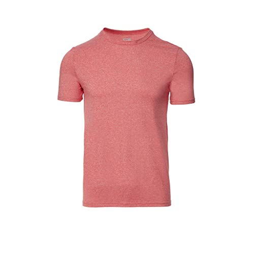 (32 DEGREES Mens Cool Crew Neck Tee-Heather RED-XXL)