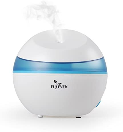 Euleven 3065W Cool mist humidifier with quite operation,1.5L water tank capacity , Ultrasonic humidifier ,Waterless Auto Shut-off with 10 hours working time perfect for home,bedroom ,office