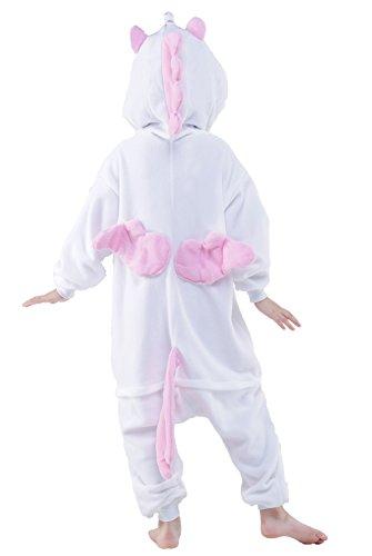 NEWCOSPLAY Childrens Pajamas Sleeping Wear Animal Onesies Cosplay Homewear (125#, Pink Unicorn) by NEWCOSPLAY (Image #5)