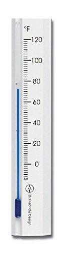 HOKCO Wooden Indoor Wall Thermometer 6 inch (White) - Indoor Outdoor Beechwood Wall