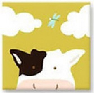 Moo Moo Cow - Cartoon Animal Cross Stitch Kits for Kids, Precision No-count  Easy Cross Stitch Kits for Beginners  Size: 8 By 8 Inches