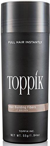 TOPPIK Hair Building Fibers, Light Brown, 1.94 oz. by TOPPIK