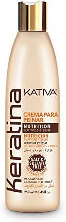 Kativa Keratina Crema de peinar para Nutrición, suavidad y brillo, 250 ml