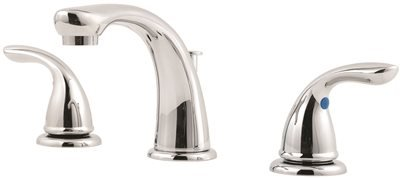 (Pfister G1496100 Pfirst Series 2-Handle 8 Inch Widespread Bathroom Faucet in Polished)