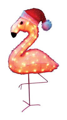 PRODUCT WORKS Lighted Flamingo/Hat Outdoor Decor, 32-Inch (Discontinued by Manufacturer)