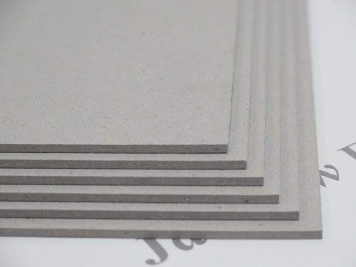 5 X A3 Greyboard Craft Card 3000mic 3mm for Backing/Mountboard/ Arts & Crafts Protectafile