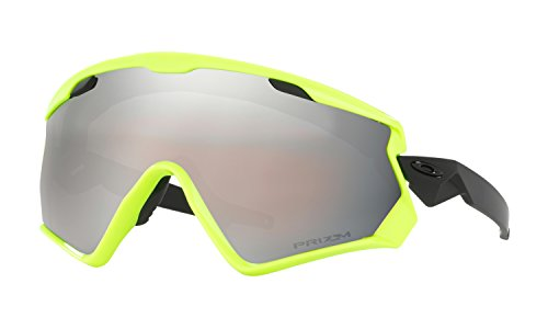 Oakley Wind Jacket 2.0 Sunglasses Neon Retina with Prizm Snow Black Iridium Lens + - Wind Jacket 2.0