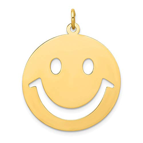 Beautiful Yellow gold 14K 14k Smiley Face Charm
