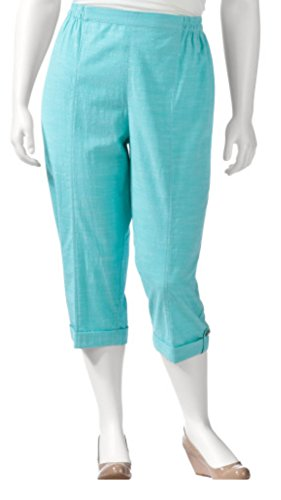 Cathy Daniels Women's Slub Time Pull On Cuffed Hem Capri ...