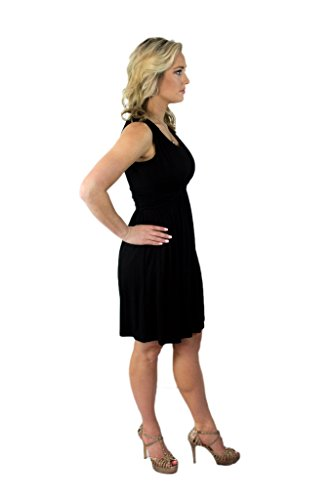 Women's Scoop Prince Neck Sundress Charm Sleeveless Your Round Summer Black vBWEqnUR6a