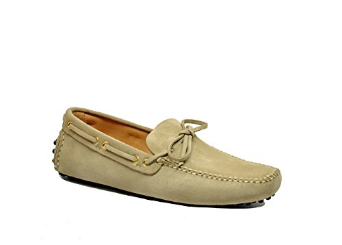 Uomini Car Shoe Kud006f0f24 Mocassini In Camoscio Beige