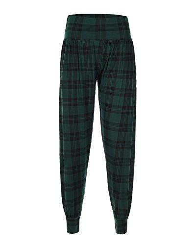 quadri Donna Tartan STYLE A Green Pantaloni q4xTaFTw