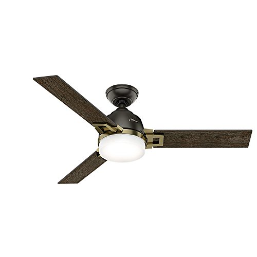 Hunter Fan Company 59220 Ceiling Fan, Small, Noble Bronze/Modern Brass