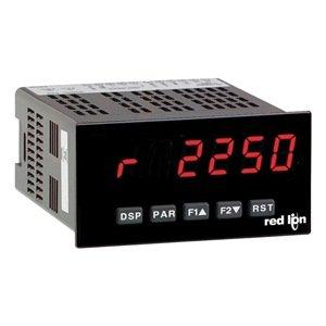Red Lion PAXR Rate Panel Meter, 6 Digit LED Display, 85-250 VAC