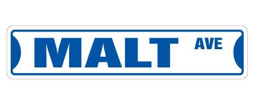 MALT Street Sign Decal shop store ice cream milkshake shoppe malted milk restaurant