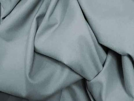 Organic Fleece (100% Organic Cotton Flannel Fabric - 55 Inches Wide - Rain Cloud Grey - by The Yard)