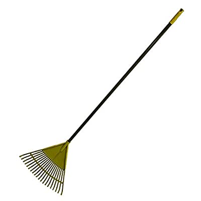 Garden Leaf Rake Tool Lawns a Yards Long Handle Sweep Fall Leaves No Bending Easy Grip Handle - Green