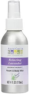 Aura Cacia Relaxing Lavender Aromatherapy Room and Body Mist | 4 fl. oz.