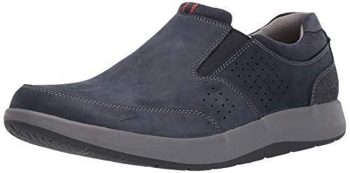 CLARKS Men's Shoda Free Waterproof Slip-on Sneaker Navy Nubuck 85 M US