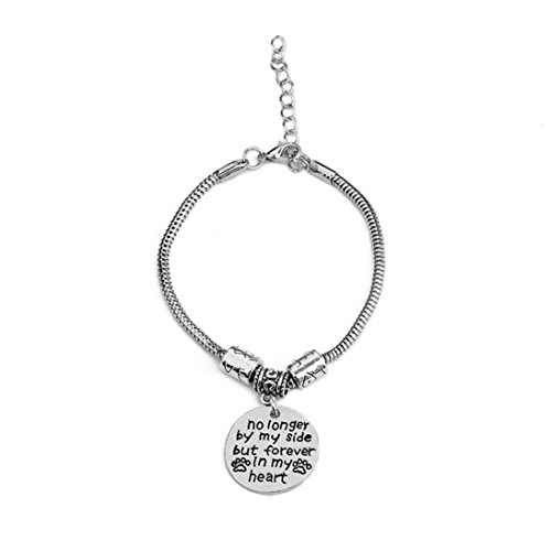Clearance ! Bracelet, Fitfulvan 2018 Inspirational Bangle No Longer By My Side But Forever In My Heart Adjustable Jewelry ()