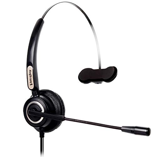 Office Monaural Headset with Microphne RJ9 Plug for Cisco IP Phones 794X 796X 797X 69XX Series and 8811,8841,8851,8861,8941,8945,8961,9951,9971 etc