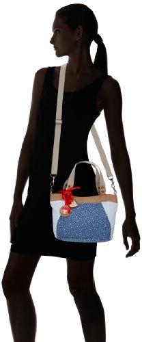 Adelheid Glückspilz Handtasche klein 11140133472 Damen Henkeltaschen 30x22x2 cm (B x H x T) Mehrfarbig (Sternchen Blau 734)