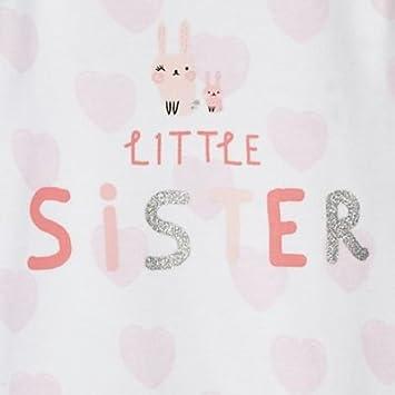dise/ño de Hermana peque/ña Pijama para beb/é Bluezoo Color Blanco y Rosa