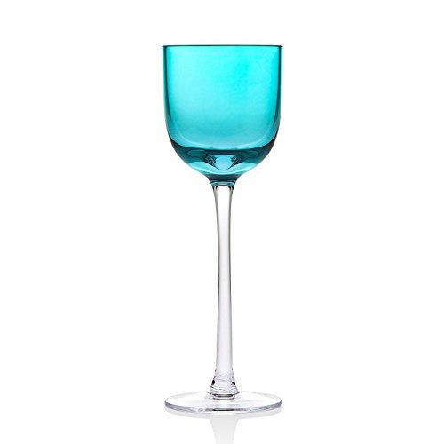 Godinger 99948 2 oz Rondo Sea Blue Liqueur Glass- Set of 4