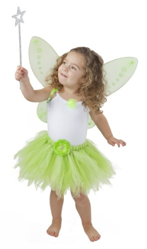 Tinkerbell Costume for Toddler Tinkerbelle Birthday Party and Dress Up (M (2.5-5 Years)) (Green Fairy Dress)