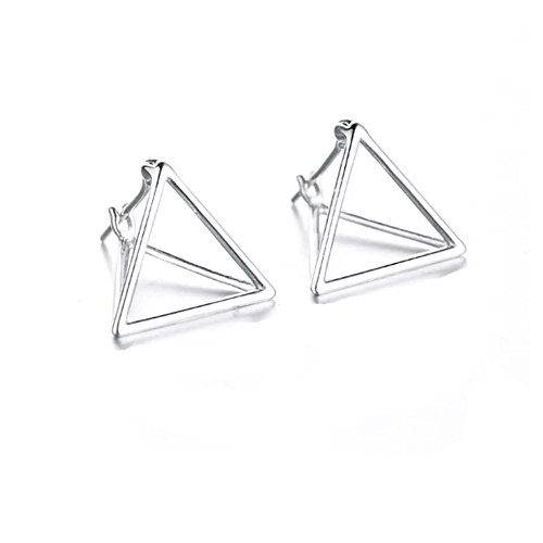 Helen de Lete Simple Geometric Triangle Sterling Silver Stud Earrings ()