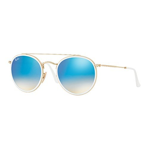0RB3647N Blue Unisex de Gafas Ray Ban Flash Adulto Gradient Sol Dorado 785qtSw