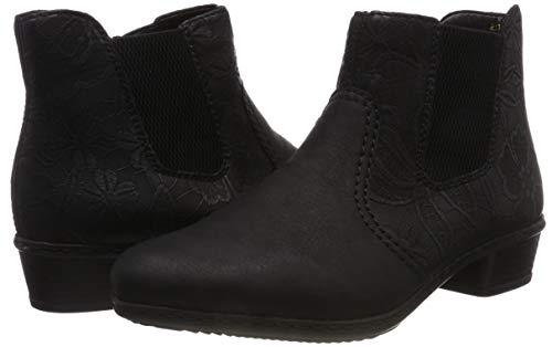 Noir schwarz Chelsea schwarz Bottes Femme schwarz Y07a6 00 Rieker 0w1XqZIE