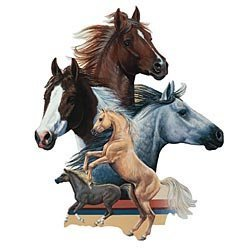 Bits and Pieces 550 Piece Shaped Puzzle Horse Show