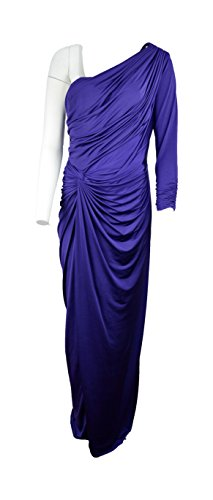 Tadashi Shoji Women's One Shoulder Evening Dress Gown, Purple Size XL
