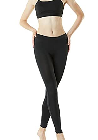 Tesla Women's Compression Baselayer Pants Casual Cool Dry Yoga Active Leggings Tights FUP19-BLK