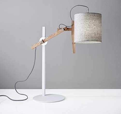 """Adesso 3686-02 Keaton Table Lamp, Smart Outlet Compatible, 28"""""""