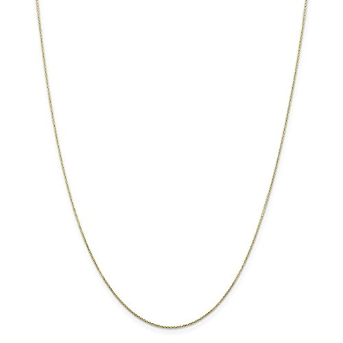 10k Yellow Gold Diamond-cut 0.9mm Cable Link Chain Necklace 18
