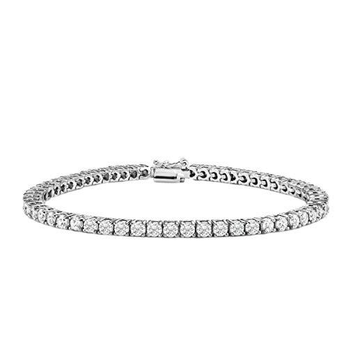 Voss+Agin 2ct - 4ct Diamond Classic Tennis Bracelet in 14K White Gold, AGI - Tennis Diamond 2 Bracelet Carat