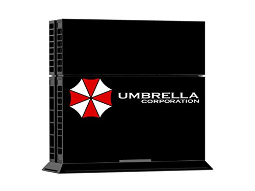Resident Evil Umbrella Corporation logo Creative Decal Skin Stickers For Sony Playstation 4 PS4 Console + 2 Pcs Stickers For PS4 Controller ...