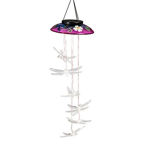 Evergreen Enterprises EG2SP4018 Red Hummingbird Decorative Glass Topper Solar Mobile (Set of 1) by Evergreen