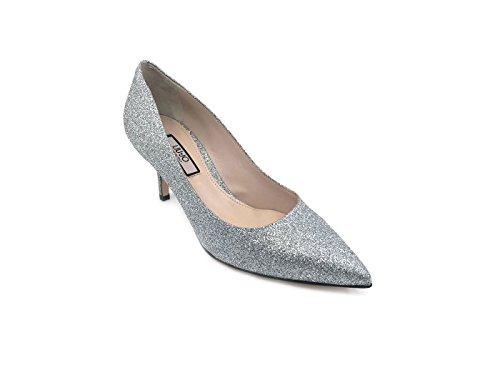 Jo Cuero Mujer Jeans de Plateado Zapatos de Vestir LIU para fPpwqPB