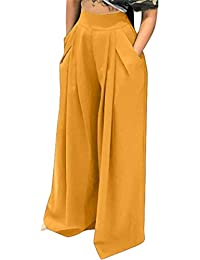Women's Casual Stretch Straight Leg High Waisted Long...
