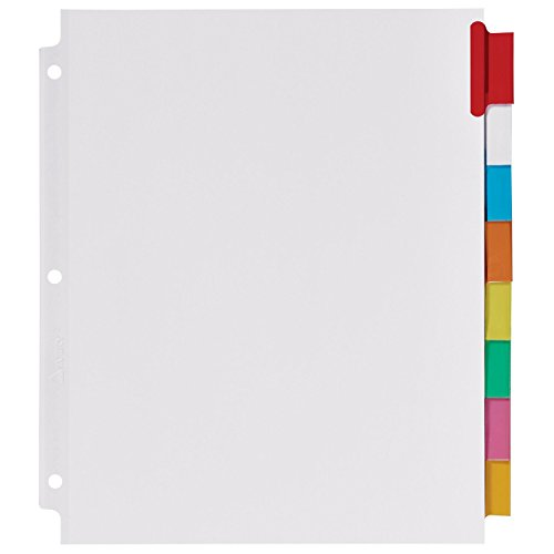 avery big tab inserts for dividers 8 tab template - avery big tab insertable extra wide dividers 8 multicolor