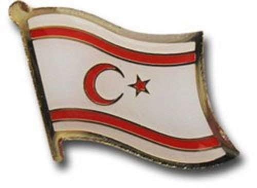 Northern Cyprus Country Flag Bike Motorcycle Hat Cap lapel Pin BEST material PREMIUM Vivid Color and UV Fade Resistant